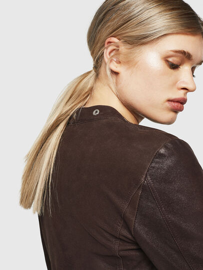 Diesel - L-LYSSA-G, Brown - Leather jackets - Image 4