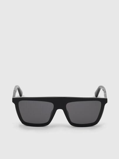 Diesel - DL0323, Bright Black - Sunglasses - Image 1