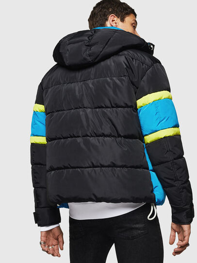 Diesel - W-MARTOS, Black/Blue - Winter Jackets - Image 2