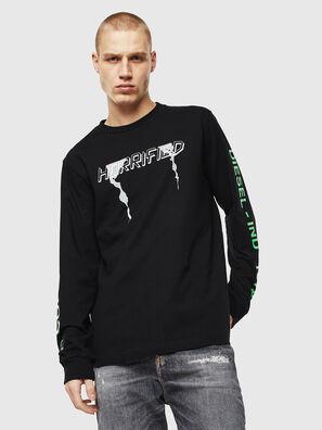 T-JUST-LS-VINT, Black/White - T-Shirts