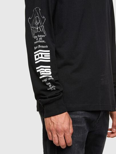 Diesel - T-JUST-LS-N61, Black - T-Shirts - Image 3