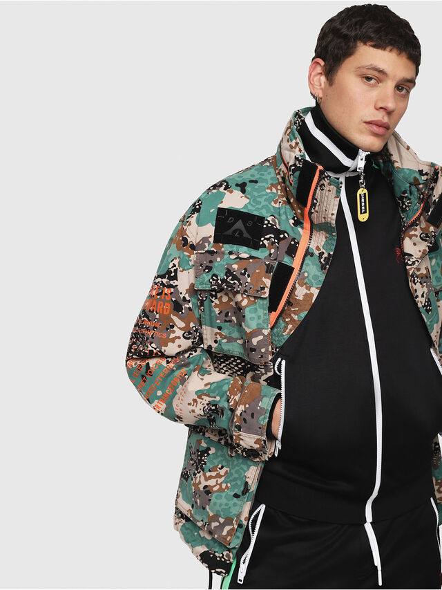 Diesel - J-TOUCHA-CAMOU, Green Camouflage - Jackets - Image 3