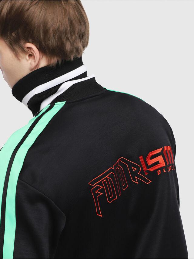 Diesel - S-HISOKA, Black/Green - Sweaters - Image 3